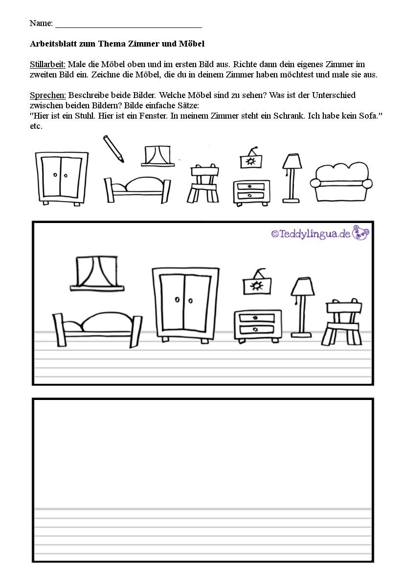 Arbeitsblätter   Teddylingua